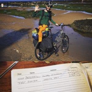 """""""Recorrer 7000 kilómetros sin estómago, colon ni vesícula biliar, en bicicleta y por el cáncer"""", proyecto en el que está inmerso desde hace meses Juan Dual. Imagen cortesía de Juan Dual."""