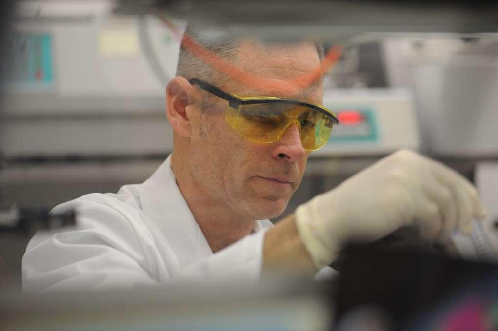 Un investigador prepara una muestra para la extracción de ADN. Imagen: Instituto de Alergias y Enfermedades Infecciosas, National Institute of Health, EEUU).