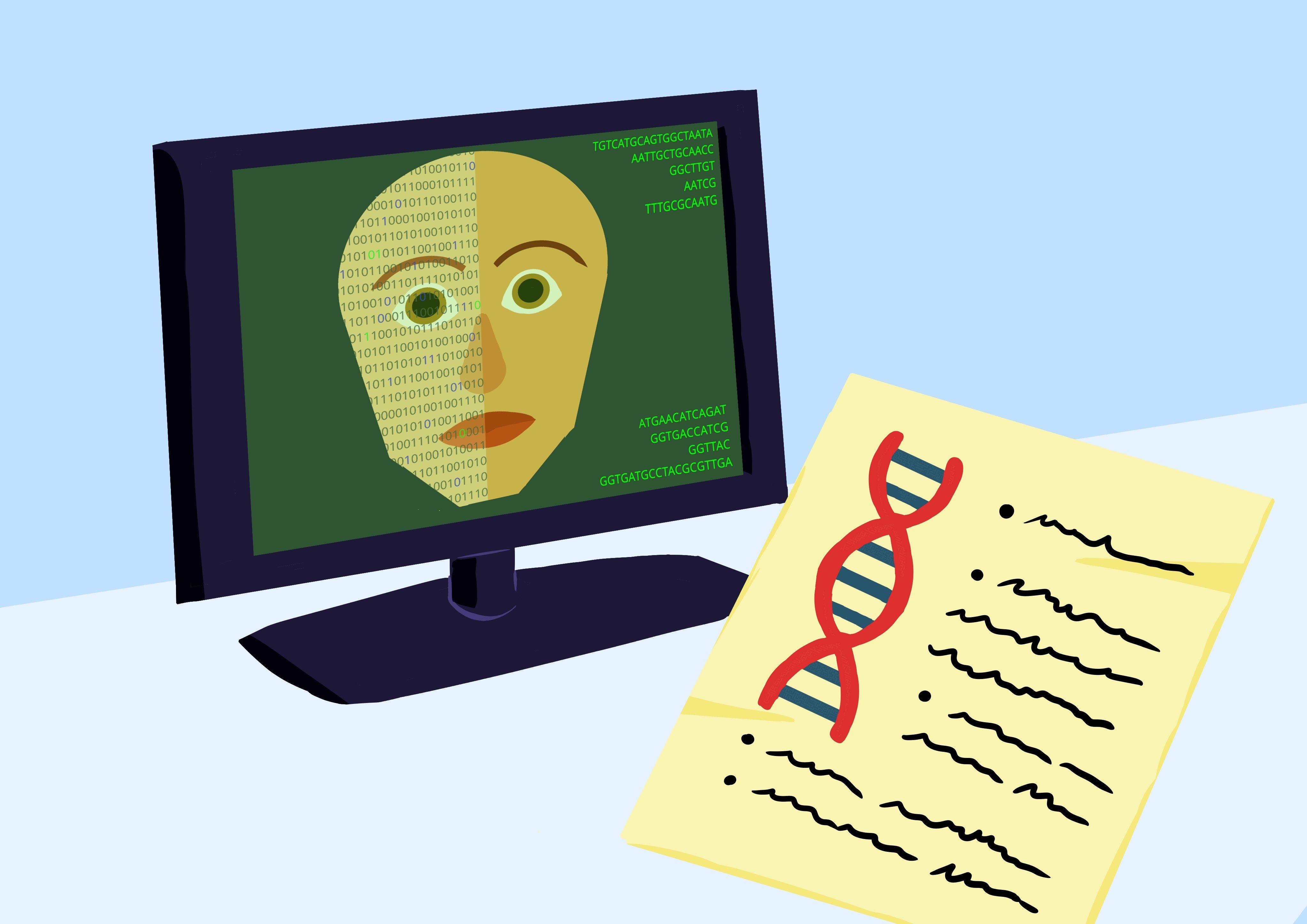 análisis genética facial