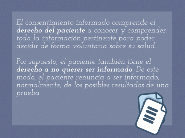 consentimiento informado, definición, documento